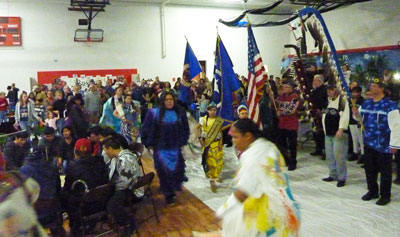 The Mille Lacs Band of Ojibwa put on a drum dance that was well done.